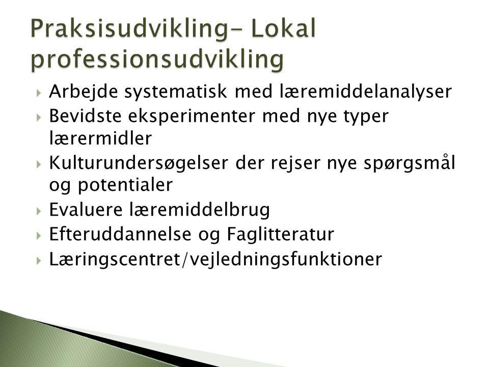 Praksisudvikling- Lokal professionsudvikling