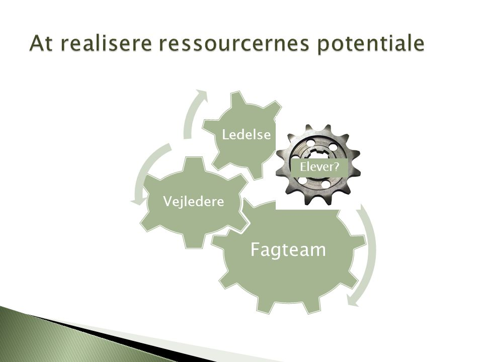 At realisere ressourcernes potentiale