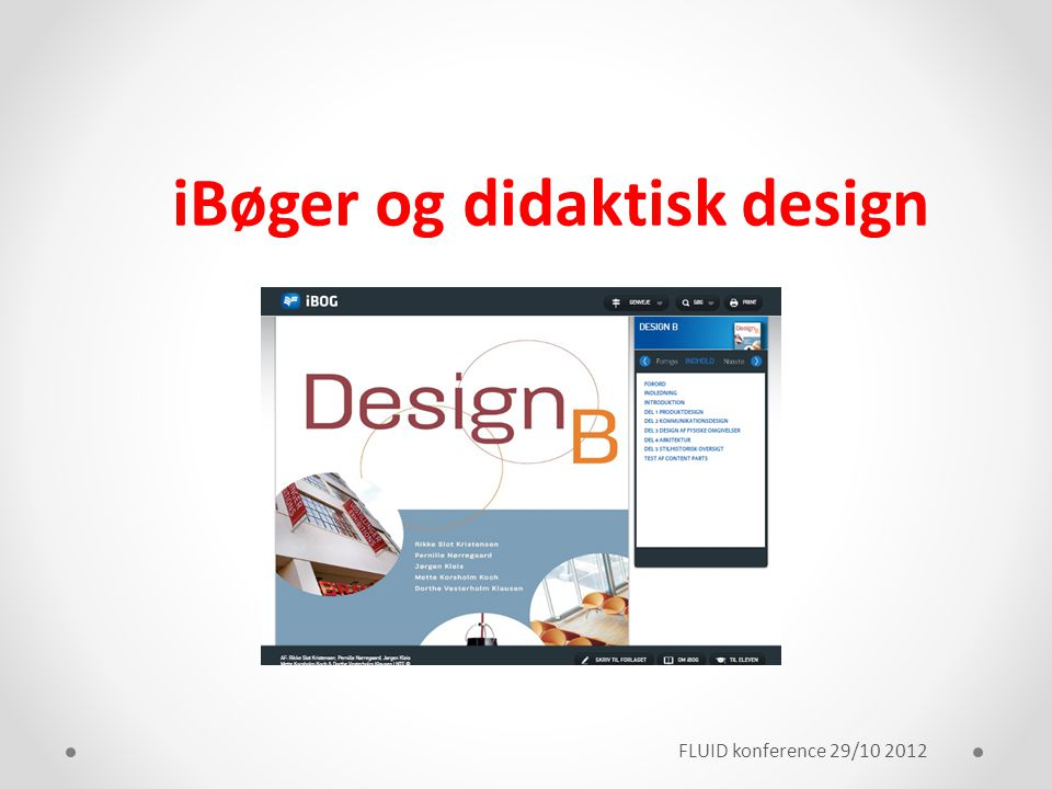 iBøger og didaktisk design