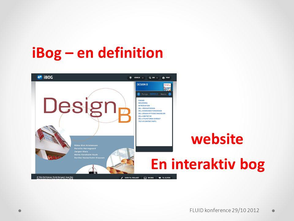 iBog – en definition website En interaktiv bog