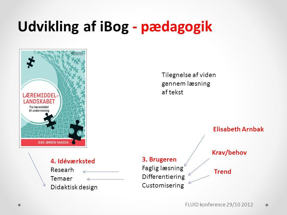 Udvikling af iBog - pædagogik