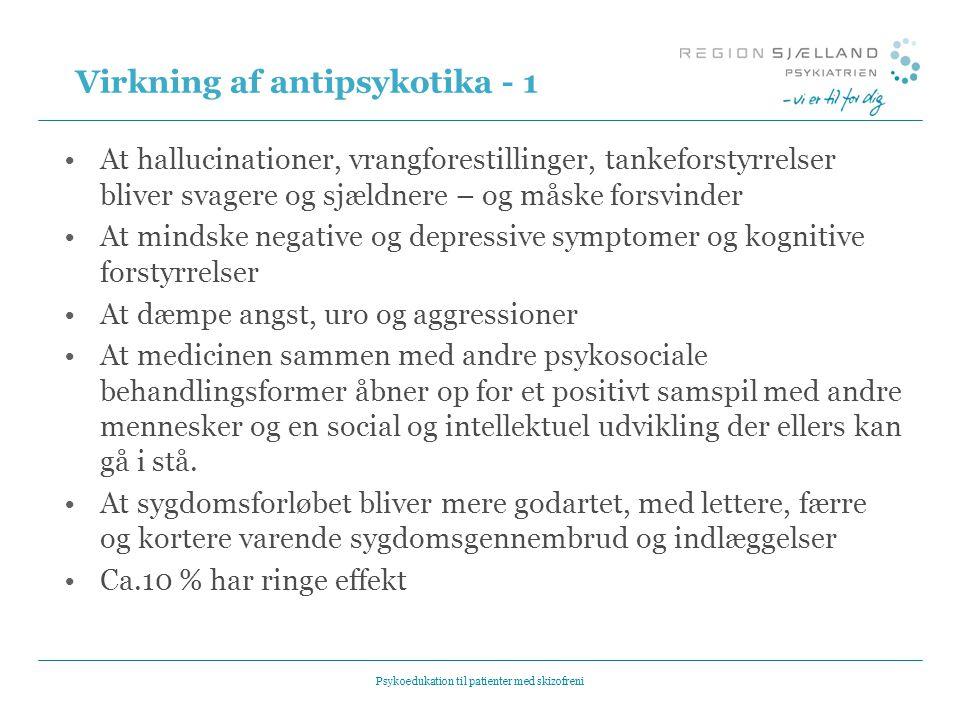 Virkning af antipsykotika - 1
