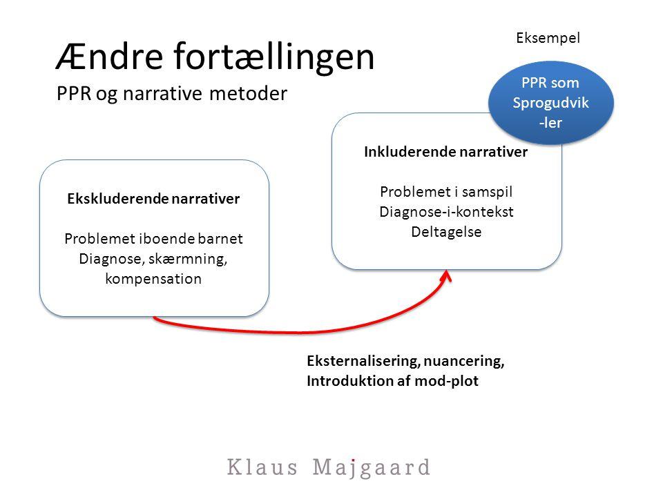 Ændre fortællingen PPR og narrative metoder