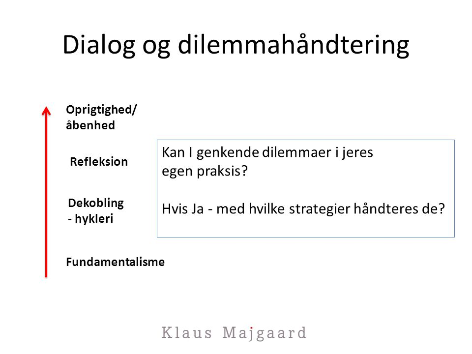 Dialog og dilemmahåndtering