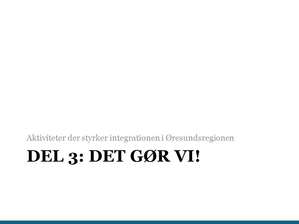 Aktiviteter der styrker integrationen i Øresundsregionen