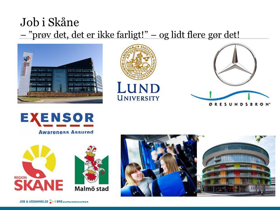 Job i Skåne – prøv det, det er ikke farligt! – og lidt flere gør det!