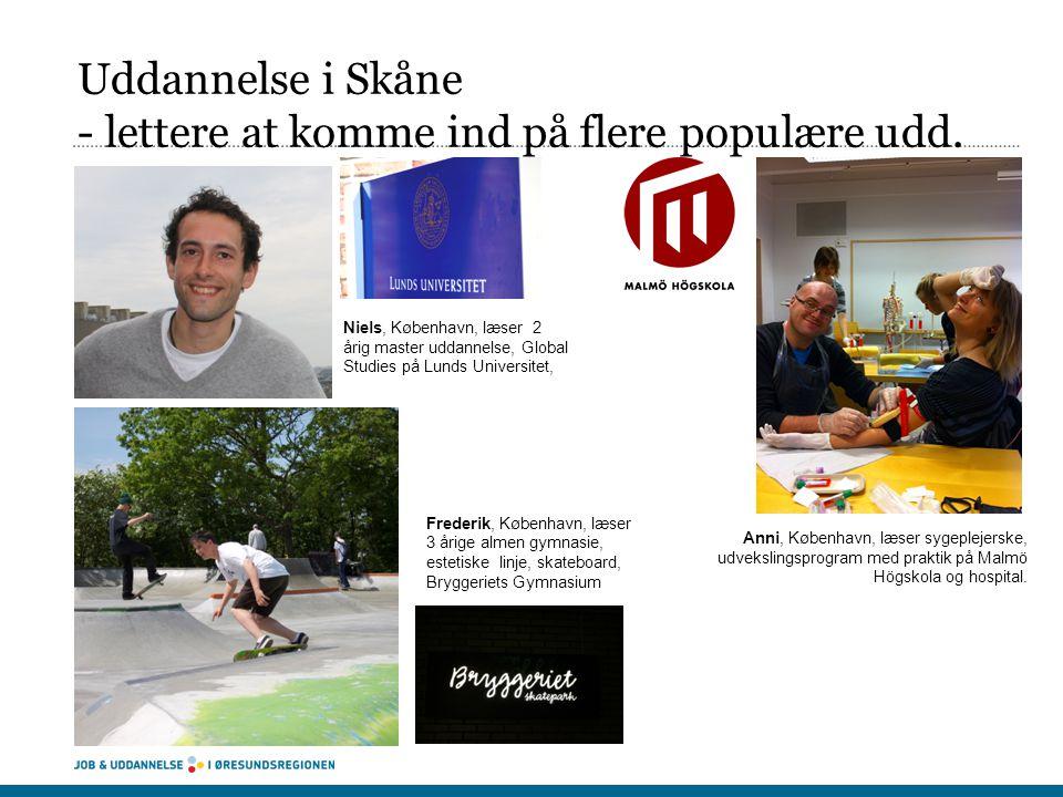 Uddannelse i Skåne - lettere at komme ind på flere populære udd.