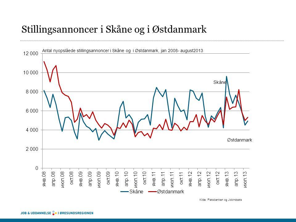Stillingsannoncer i Skåne og i Østdanmark