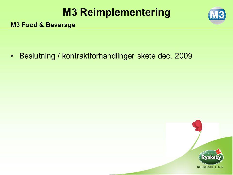 Beslutning / kontraktforhandlinger skete dec. 2009