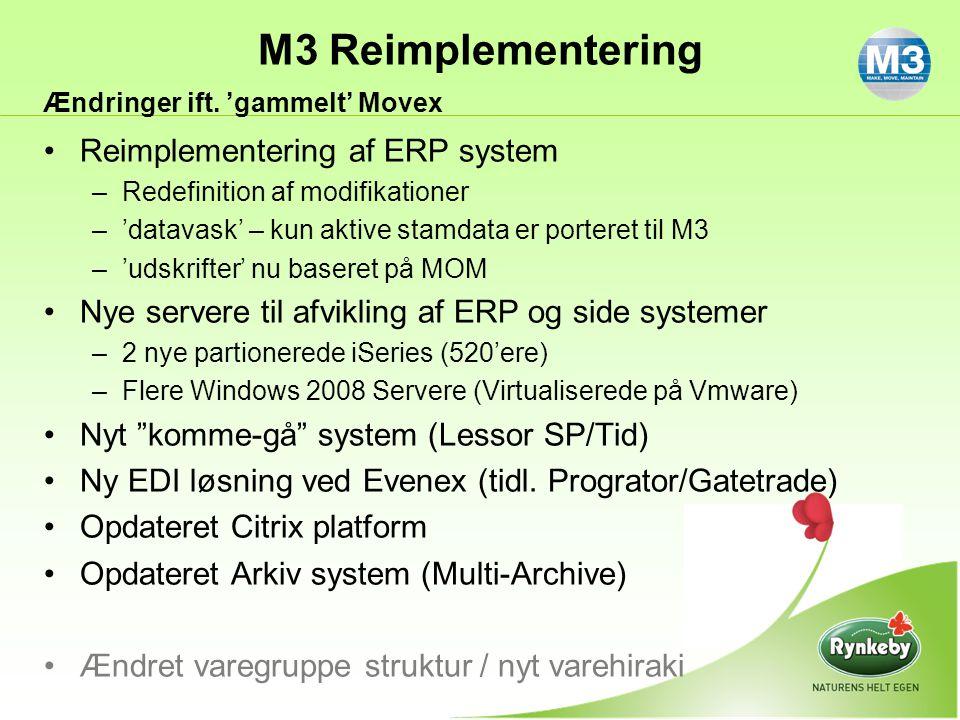 Reimplementering af ERP system