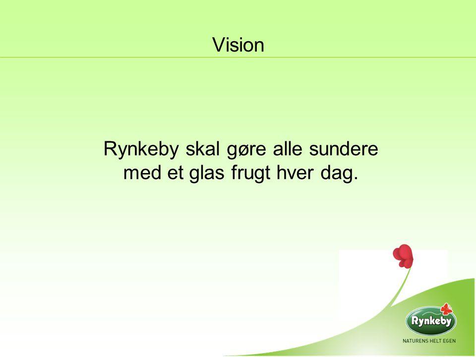 Rynkeby skal gøre alle sundere med et glas frugt hver dag.
