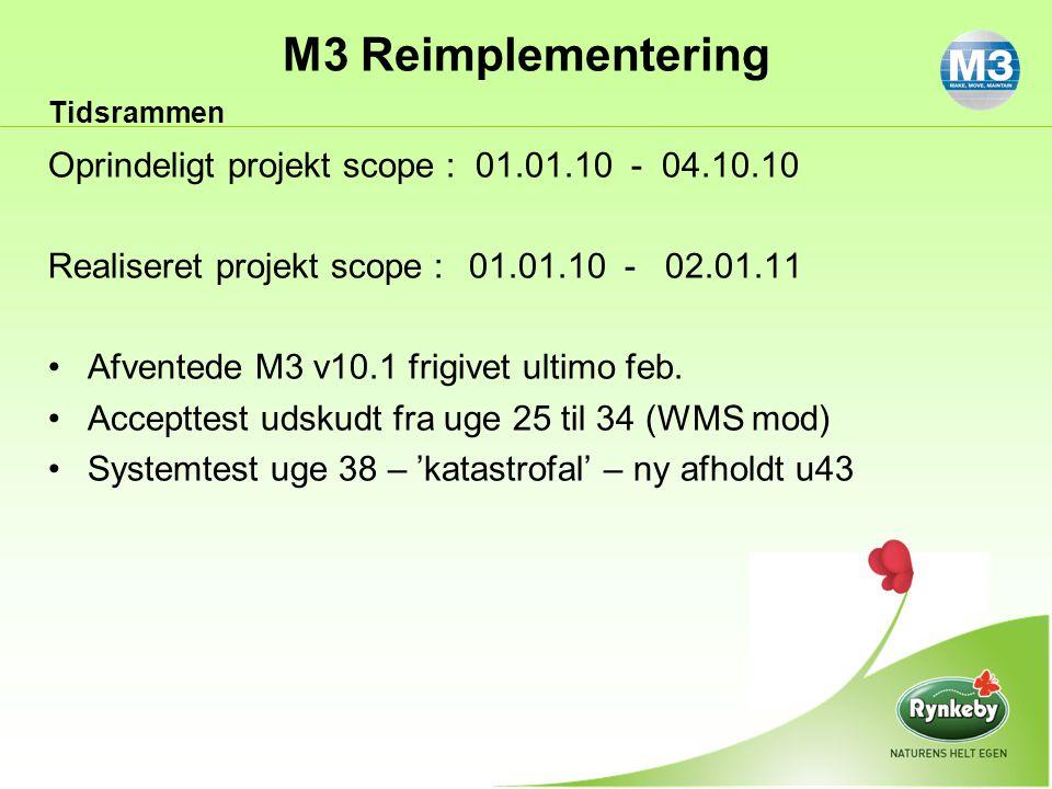 Oprindeligt projekt scope : 01.01.10 - 04.10.10