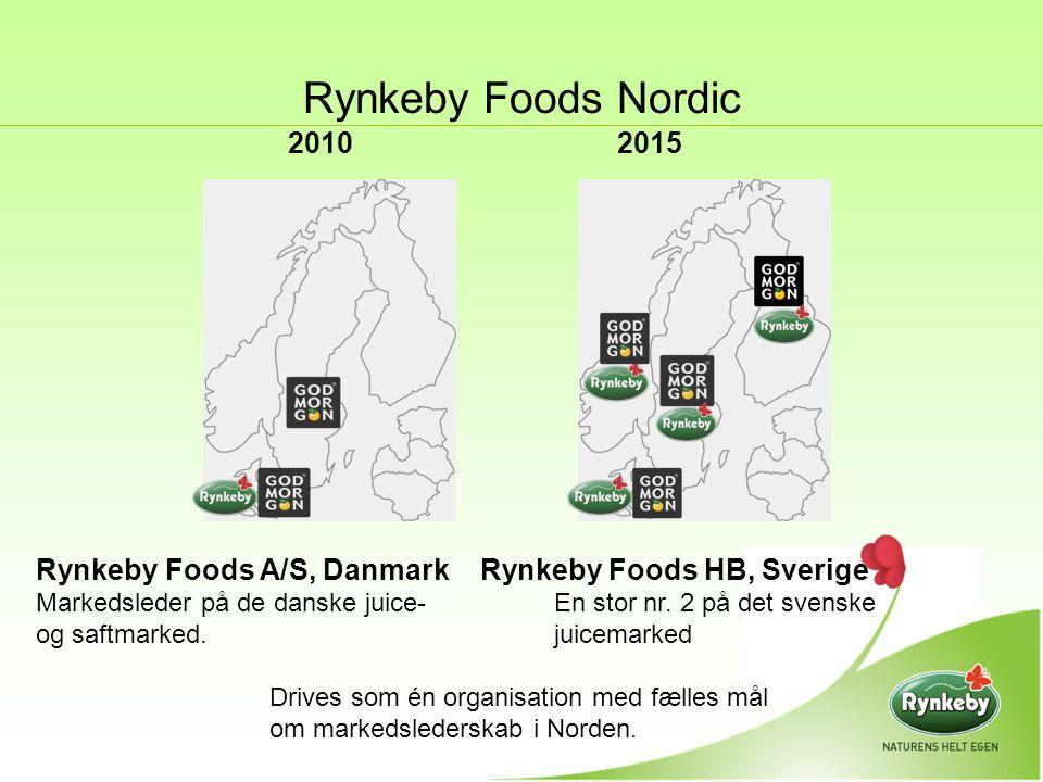 Rynkeby Foods Nordic 2010 2015. Rynkeby Foods A/S, Danmark Rynkeby Foods HB, Sverige.