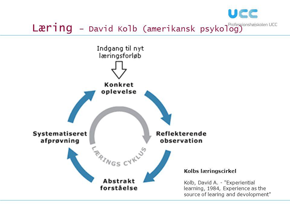 Læring – David Kolb (amerikansk psykolog)