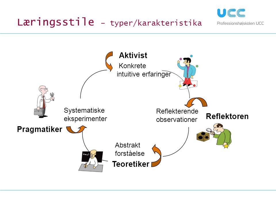 Læringsstile – typer/karakteristika
