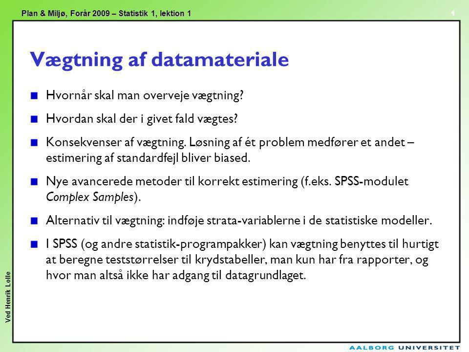 Vægtning af datamateriale