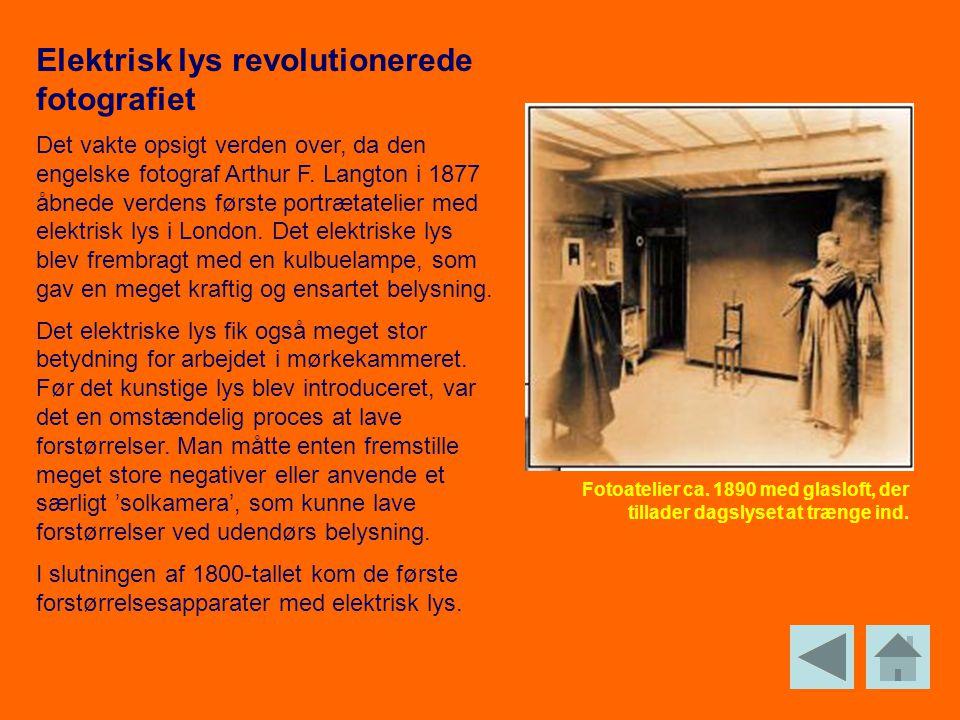 Elektrisk lys revolutionerede fotografiet