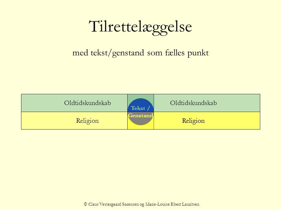 Tilrettelæggelse med tekst/genstand som fælles punkt Oldtidskundskab