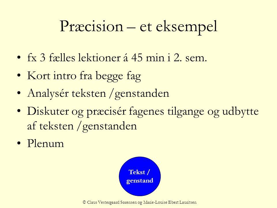 Præcision – et eksempel