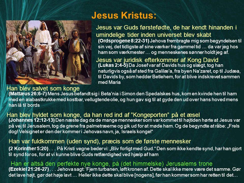 Jesus Kristus: Jesus var Guds førstefødte, de har kendt hinanden i umindelige tider inden universet blev skabt.