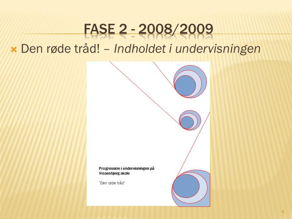 Fase 2 - 2008/2009 Den røde tråd! – Indholdet i undervisningen