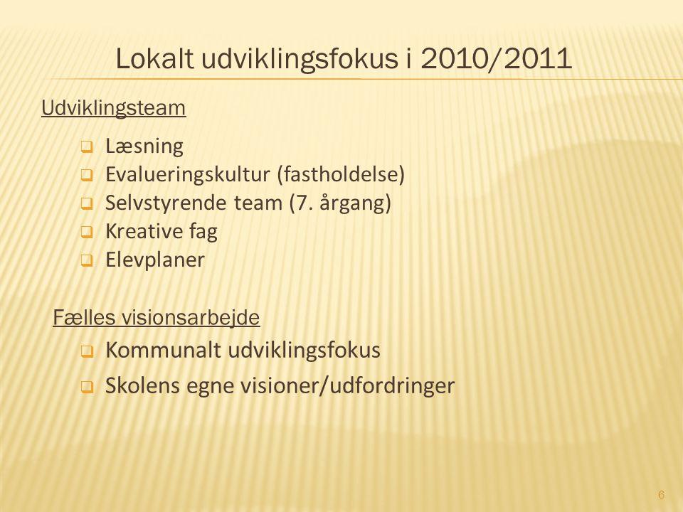Lokalt udviklingsfokus i 2010/2011