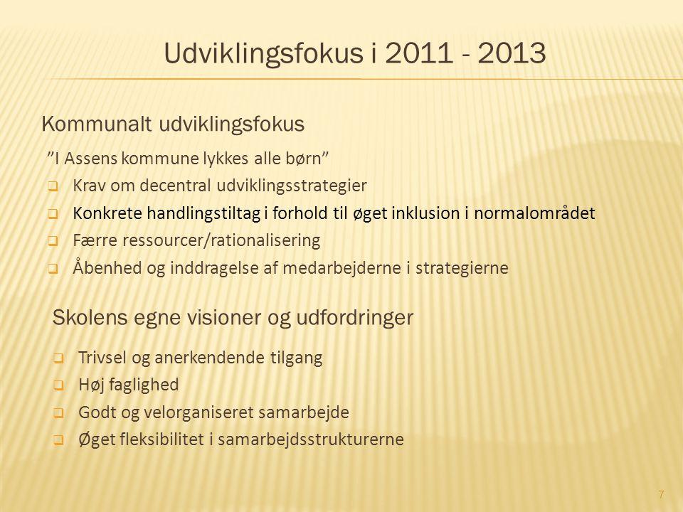 Udviklingsfokus i 2011 - 2013 Kommunalt udviklingsfokus
