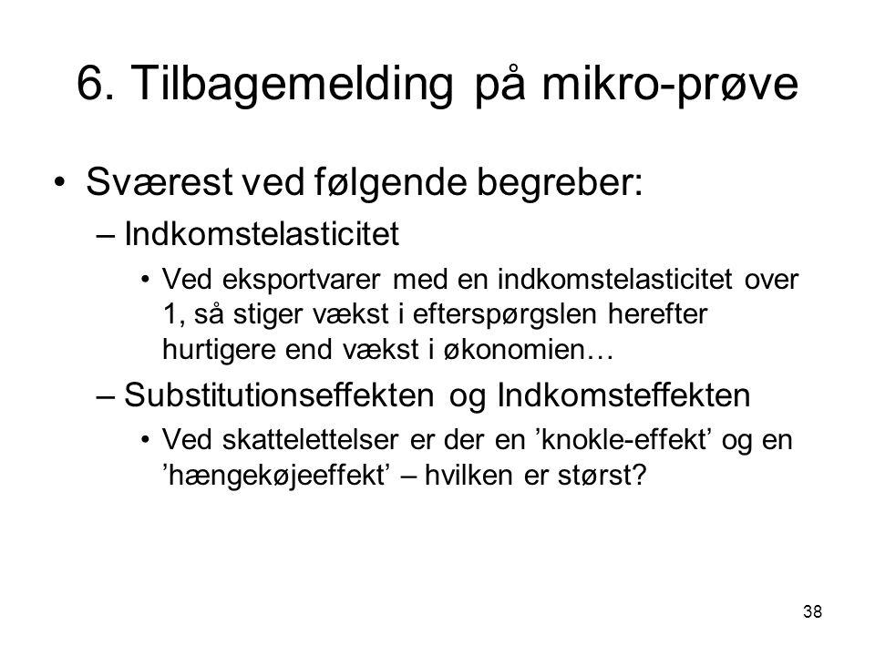 6. Tilbagemelding på mikro-prøve