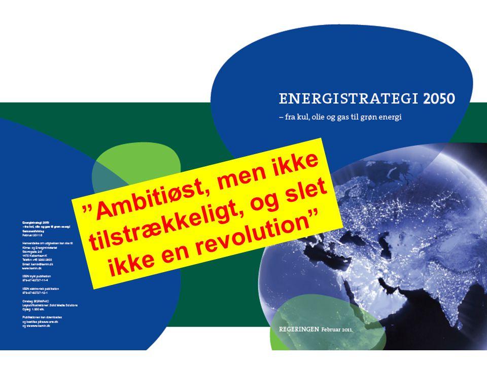 Ambitiøst, men ikke tilstrækkeligt, og slet ikke en revolution