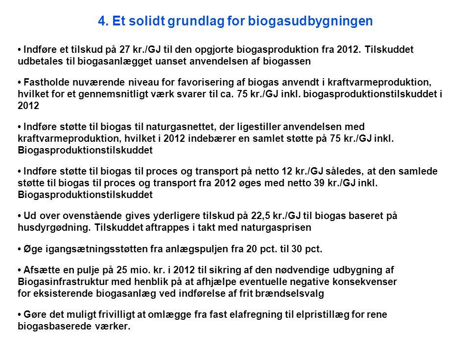 4. Et solidt grundlag for biogasudbygningen