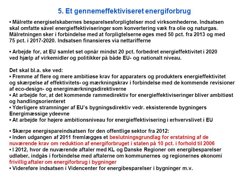 5. Et gennemeffektiviseret energiforbrug