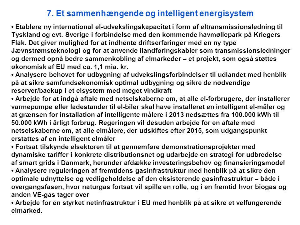 7. Et sammenhængende og intelligent energisystem