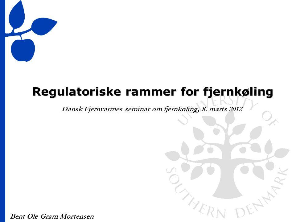 Regulatoriske rammer for fjernkøling