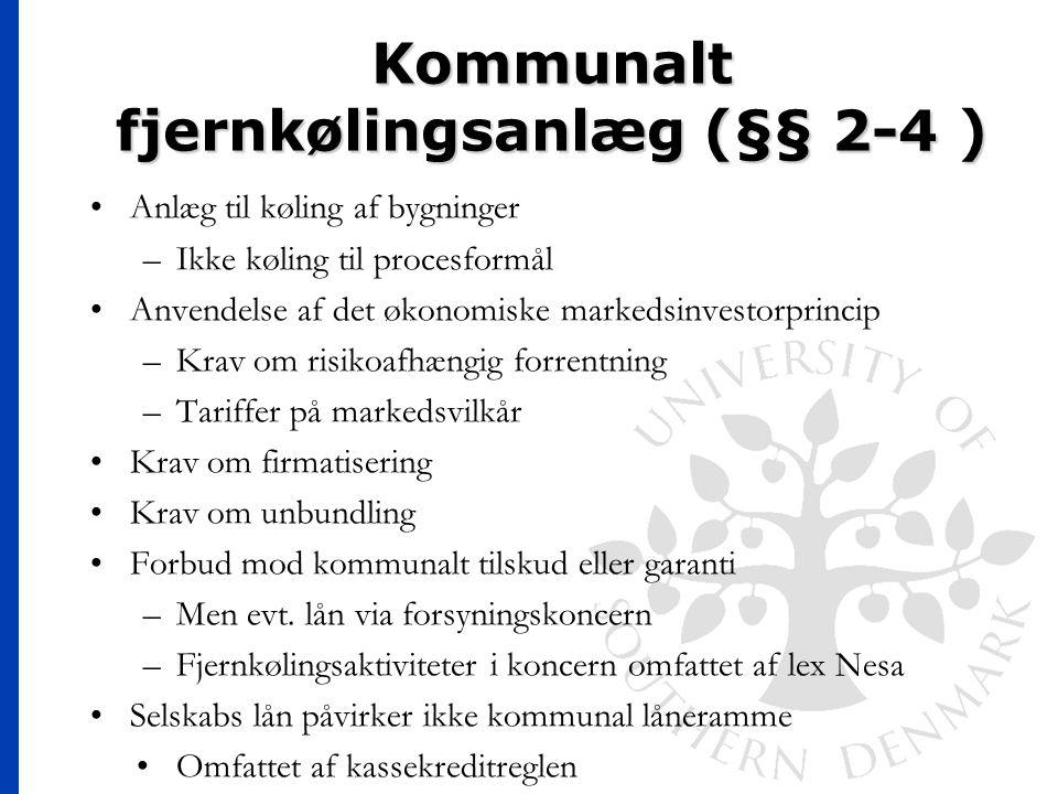 Kommunalt fjernkølingsanlæg (§§ 2-4 )
