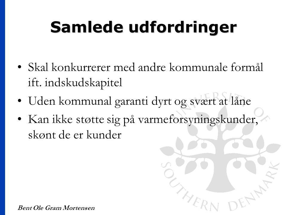 Samlede udfordringer Skal konkurrerer med andre kommunale formål ift. indskudskapitel. Uden kommunal garanti dyrt og svært at låne.