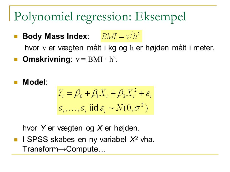 Polynomiel regression: Eksempel