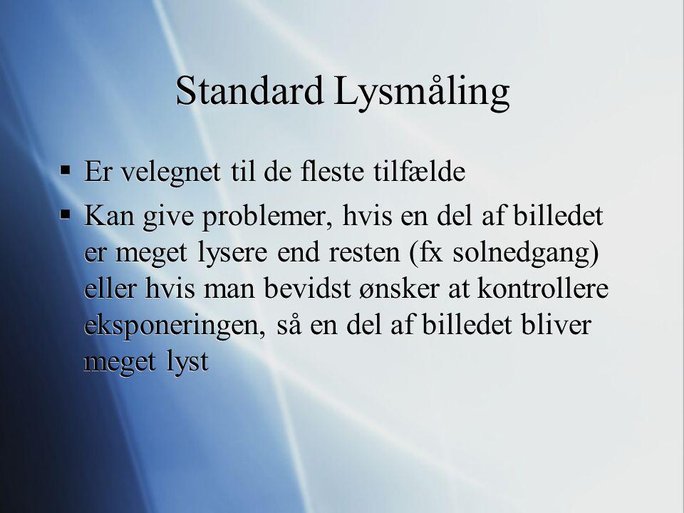 Standard Lysmåling Er velegnet til de fleste tilfælde