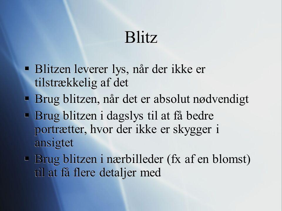 Blitz Blitzen leverer lys, når der ikke er tilstrækkelig af det