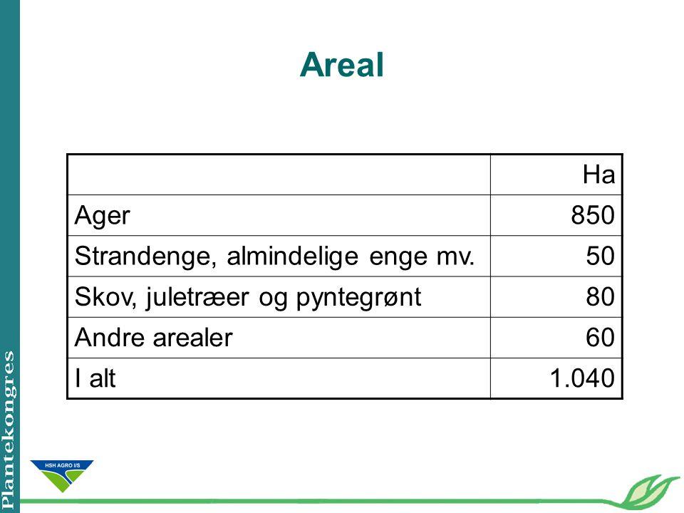 Areal Ha Ager 850 Strandenge, almindelige enge mv. 50