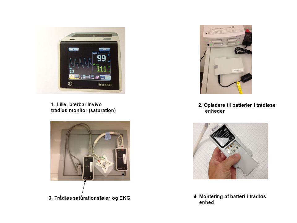 1. Lille, bærbar Invivo trådløs monitor (saturation)