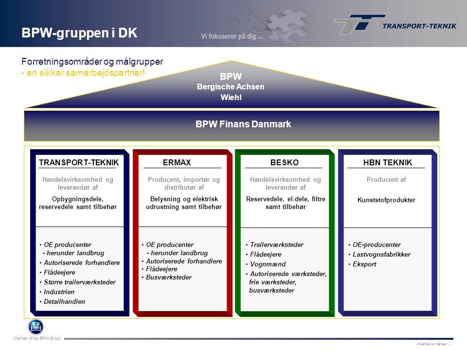 BPW-gruppen i DK Forretningsområder og målgrupper