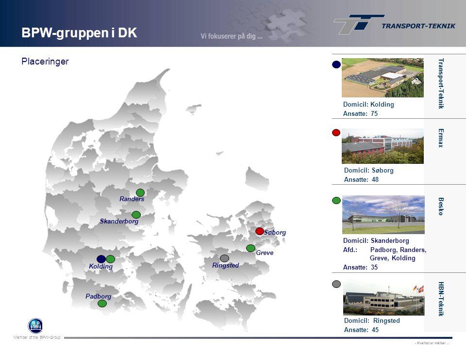 BPW-gruppen i DK Placeringer Transport-Teknik Transport-Teknik