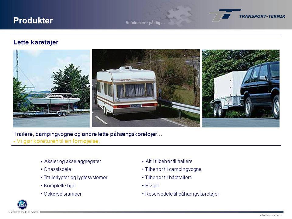 Produkter Lette køretøjer