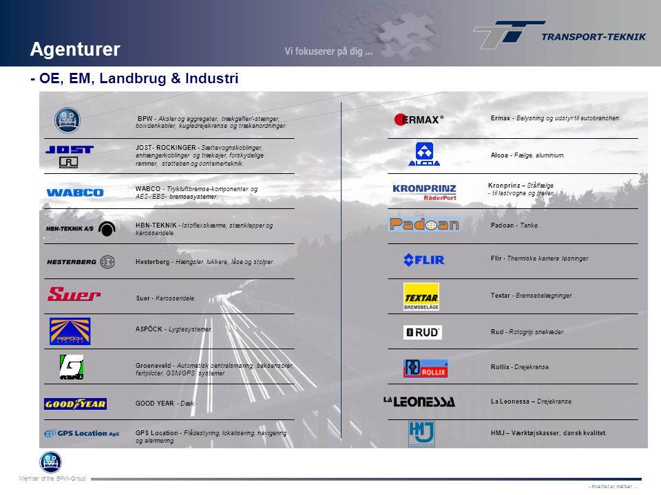 Agenturer - OE, EM, Landbrug & Industri