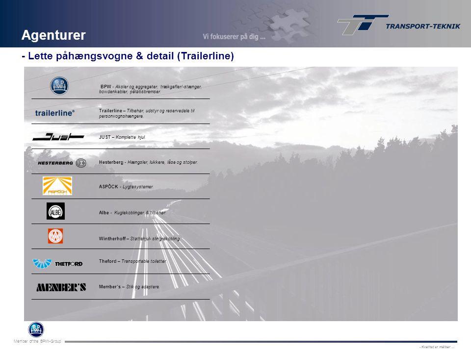 Agenturer - Lette påhængsvogne & detail (Trailerline)