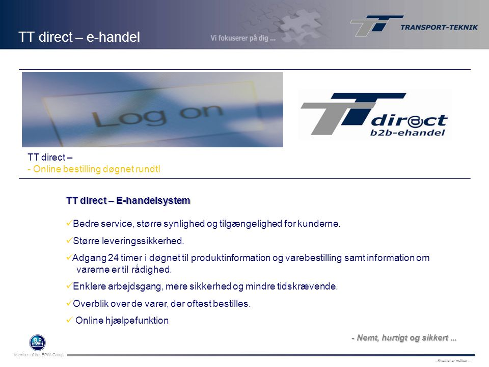 TT direct – e-handel Logo indsættes TT direct –