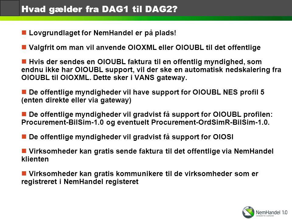 Hvad gælder fra DAG1 til DAG2
