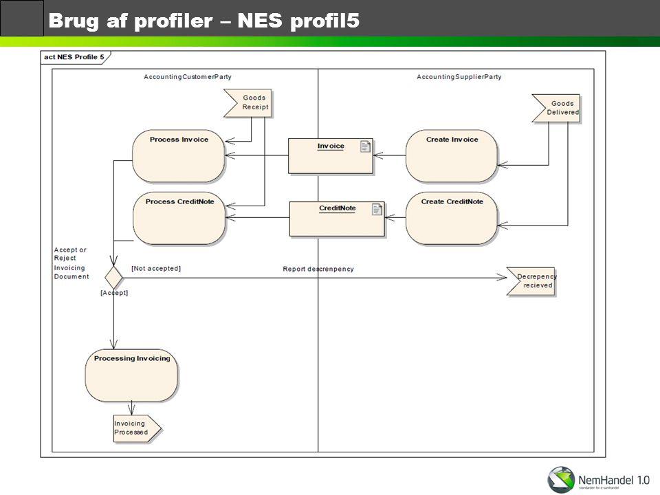Brug af profiler – NES profil5
