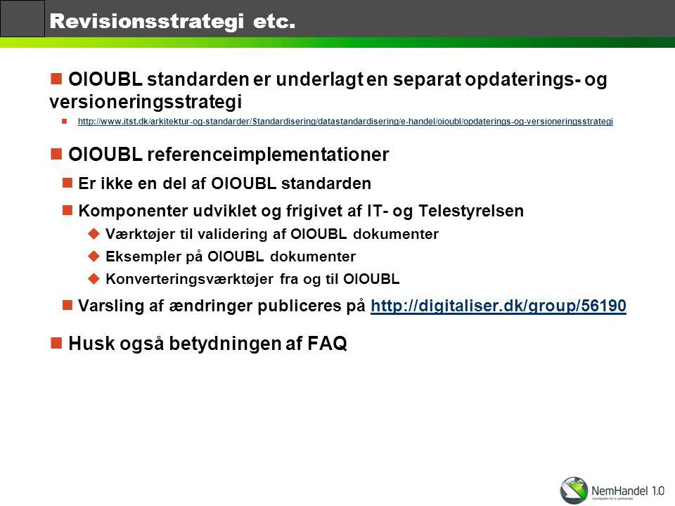 Revisionsstrategi etc.