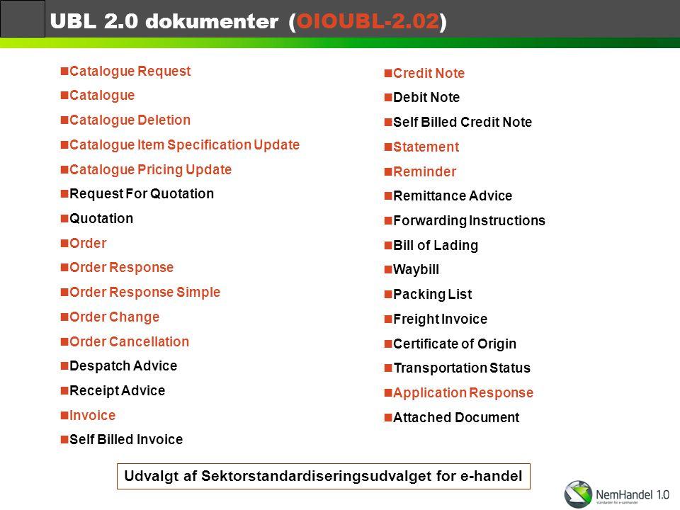 UBL 2.0 dokumenter (OIOUBL-2.02)